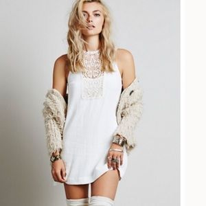 Free People White Dress with Lace detail XS